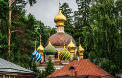 Orthodox Church in forest Royalty Free Stock Image