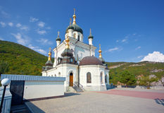 Orthodox church in Foros. Crimea stock photography
