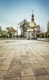 Orthodox church with gold domes Royalty Free Stock Image