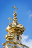 Orthodox church with golden domes Stock Images
