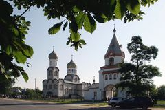 Orthodox Church in the Gomel region. Stock Photos