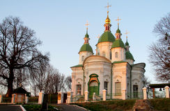 Orthodox Church with green domes Royalty Free Stock Images