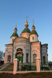 Orthodox Church with green domes Stock Images