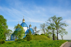 Orthodox church on the hill, Ukraine Royalty Free Stock Photo