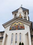 Orthodox Church of the Holy  Emperors Constantine and Helena on Alexandru Odobescu Street in the Brasov city in Romania. Orthodox Church of the Holy Emperors Stock Image