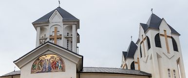 Orthodox Church of the Holy  Emperors Constantine and Helena on Alexandru Odobescu Street in the Brasov city in Romania. Orthodox Church of the Holy Emperors Stock Photography