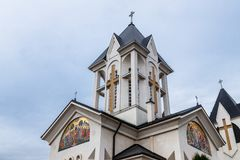 Orthodox Church of the Holy  Emperors Constantine and Helena on Alexandru Odobescu Street in the Brasov city in Romania. Orthodox Church of the Holy Emperors Royalty Free Stock Images