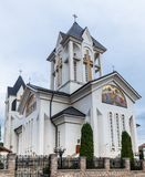 Orthodox Church of the Holy  Emperors Constantine and Helena on Alexandru Odobescu Street in the Brasov city in Romania. Orthodox Church of the Holy Emperors Stock Images