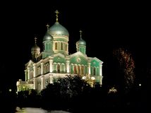 Orthodox church of the Holy Trinity in the Holy Trinity Seraphim-Diveevo Monastery (Diveevo, Russia) Royalty Free Stock Image
