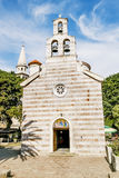 Orthodox Church of the Holy Trinity in the old town of Budva Stock Images