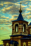 Orthodox Church of the Holy virgin in the town of Medyn, Kaluga region (Russia). Royalty Free Stock Image