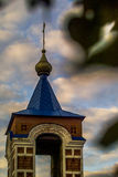Orthodox Church of the Holy virgin in the town of Medyn, Kaluga region (Russia). Stock Photo