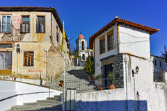 Orthodox church and houses in old town of Xanthi, East Macedonia and Thrace Royalty Free Stock Photo