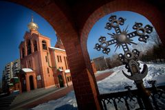 The Orthodox Church i stock photo