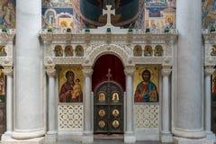 Orthodox church iconostasis templon Stock Photo