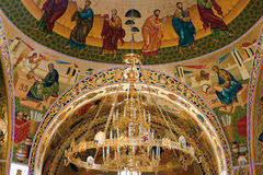 Orthodox church inside stock photography