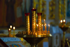 Orthodox church inside Stock Photo