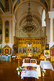 Orthodox church inside Stock Image
