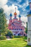 Orthodox church inside Novodevichy convent, iconic landmark in M Stock Image