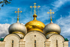 Orthodox church inside Novodevichy convent, iconic landmark in M Royalty Free Stock Photos