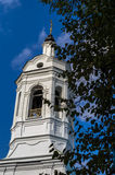 Orthodox church of the Intercession of the Mother of God in the city of Kaluga in central Russia . Royalty Free Stock Image
