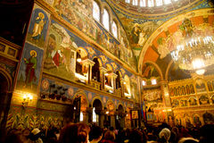 Orthodox church interior Stock Image