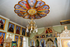 Orthodox church interior in Moldova place Stock Images