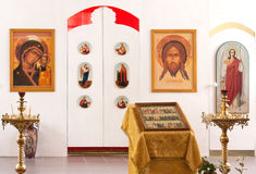Orthodox church interior Royalty Free Stock Images