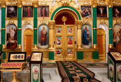 Orthodox church interior Stock Photos