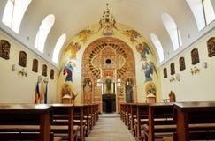 Orthodox church interior. Romania Stock Image