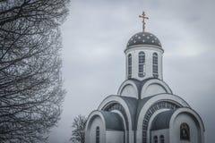 Orthodox church, Ivenets, Belarus Stock Images
