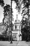 Orthodox Church in Jurmala, black and white Stock Images