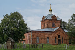 The Orthodox Church in the Kaluga region of Russia. In Russia, the main attraction are Orthodox cathedrals, churches and monasteries. They are made in the Royalty Free Stock Photography