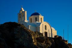 Orthodox Church in Kamari. Royalty Free Stock Images