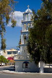 Orthodox Church in Kamari. Royalty Free Stock Photo