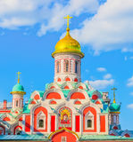 Orthodox church Kazan Cathedral on Red Square in Moscow Royalty Free Stock Images