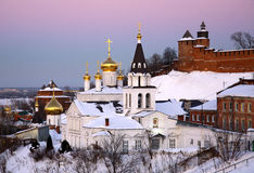 Orthodox Church and Kremlin Nizhny Novgorod Stock Photography