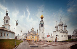 Orthodox Church kremlin square vologda Royalty Free Stock Image