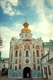 Orthodox Church Kyiv, dome, cupolas, Kiev-Pechersk Lavra. Eastern europe Stock Images
