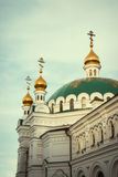 Orthodox Church Kyiv, dome, cupolas, Kiev-Pechersk Lavra. Eastern europe Royalty Free Stock Images