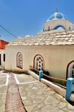 Orthodox church. Marathokampos. Samos island. Greece Stock Image