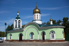 The Orthodox Church of Mary Magdalene built in 2015 in the Petropavl, Kazakhstan. Petropavl is a city in northern Kazakhstan close to the border with Russia Stock Image
