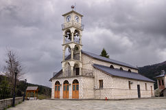 Orthodox church in MIlia village, near Metsovo, Greece Stock Images