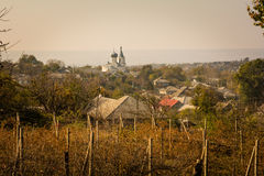 Orthodox church in Moldova during sunset Stock Photography