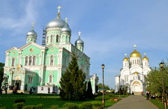 Orthodox church of a monastery in Diveevo, Russia Royalty Free Stock Image