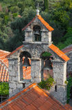 Orthodox Church. The monastery Gradiste. Small bell tower of the Orthodox Church. The monastery Gradiste, Montenegro Royalty Free Stock Images