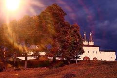Orthodox Church Monastery. On hill Stock Images