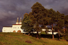 Orthodox Church Monastery. On hill Stock Image