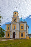 Orthodox church in a monastery. Konevsky Monastery on the island Konevets, Ladoga Lake, Russia Stock Photo