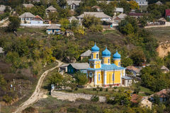 Orthodox church in the monastery in Old Orhei. Moldova Stock Image